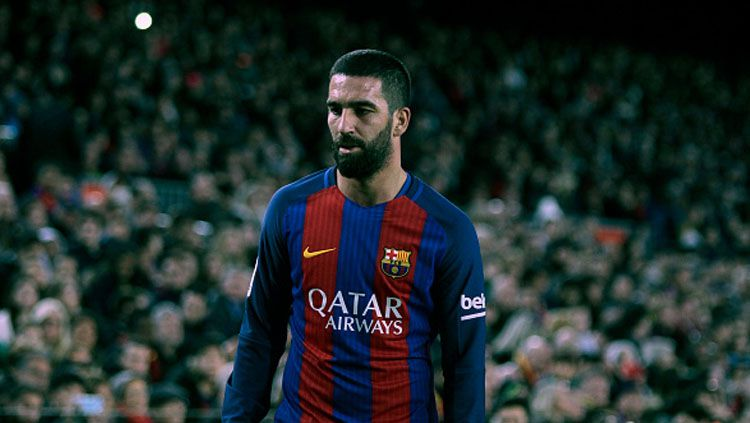Gelandang serang Barcelona, Arda Turan. Copyright: © Angel Boluda/Action Plus via Getty Images.