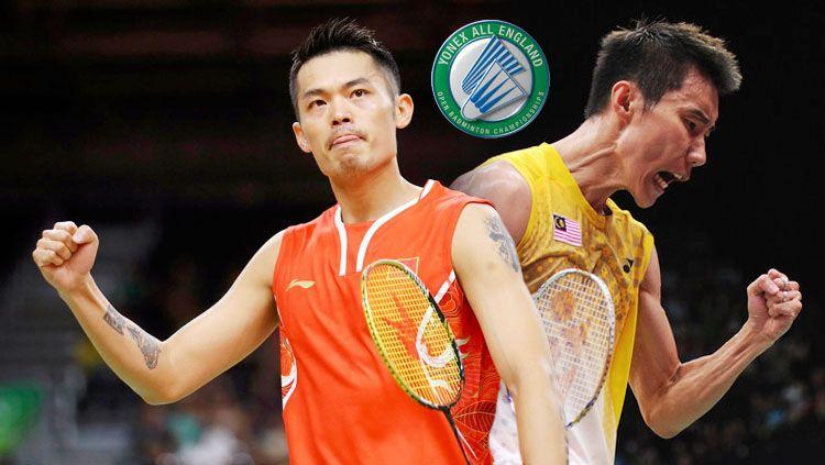 Lin Dan dan Lee Chong Wei. Copyright: © INDOSPORT/Istimewa