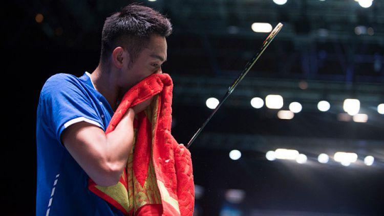 Lin Dan saat tampil di ajang All England 2017. Copyright: © Nathan Stirk/Getty Images