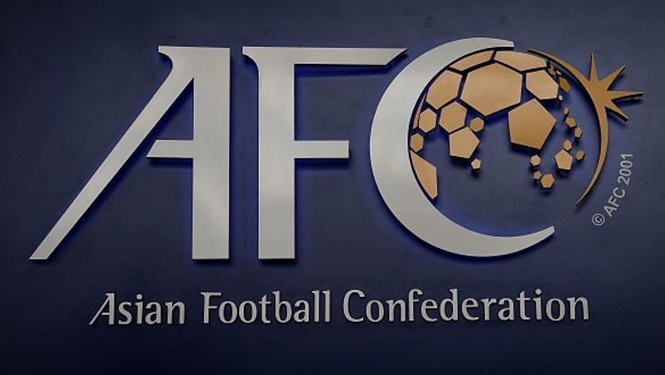 Logo Konfederasi Sepakbola Asia (AFC). Copyright: © LILLIAN SUWANRUMPHA/AFP/Getty Images