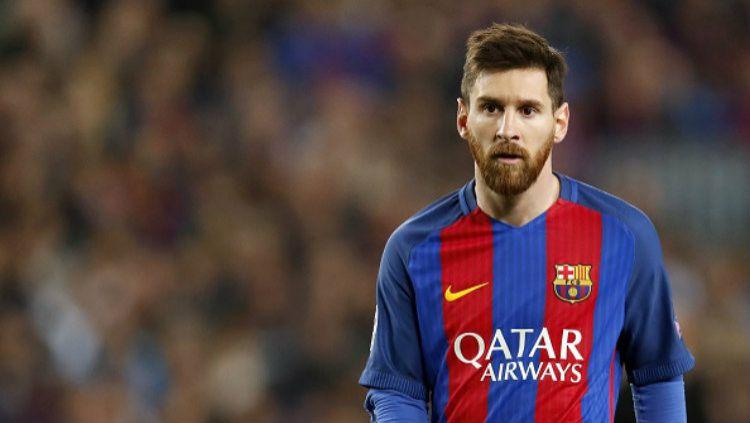 Megabintang Barcelona, Lionel Messi. Copyright: VI Images via Getty Images