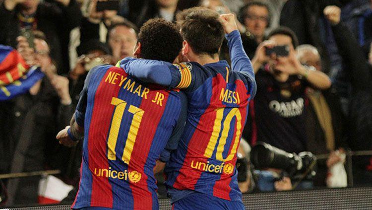Mulut Manis Neymar Terus Yakinkan Lionel Messi Gabung PSG. Copyright: © Angel Boluda/Action Plus via Getty Images