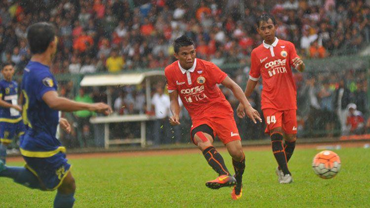 Gol semata wayang Sandi Sute antar Persija Jakarta menang atas Cilegon United. Copyright: © Twitter/@Persija_jkt
