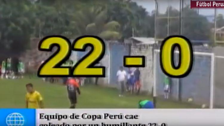 Kiper asal Peru dibobol sebanyak 22 kali dalam satu pertandingan. Copyright: © ISTIMEWA
