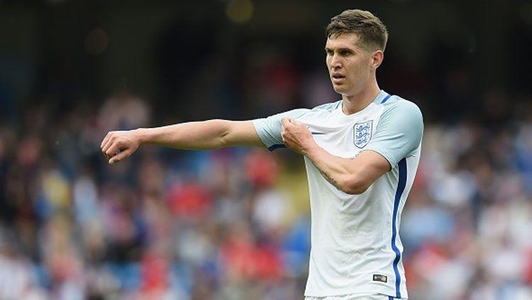 Bek Timnas Inggris yang kini bermain untuk Manchester City, John Stones. Copyright: © Michael Regan - The FA/The FA via Getty Images