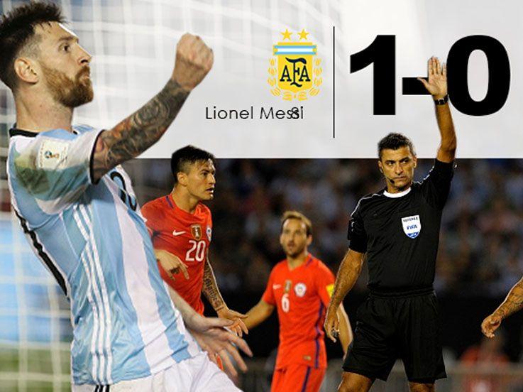 (CUPLIKAN GOL) Argentina 1-0 Chile: Tango ke Tiga Besar