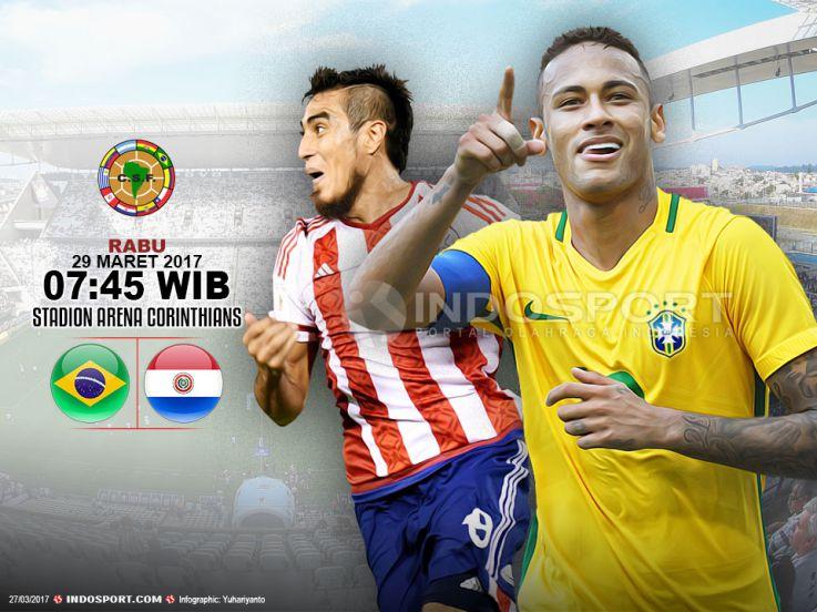 Prediksi Brasil vs Paraguay: Kukuhkan Puncak Klasemen