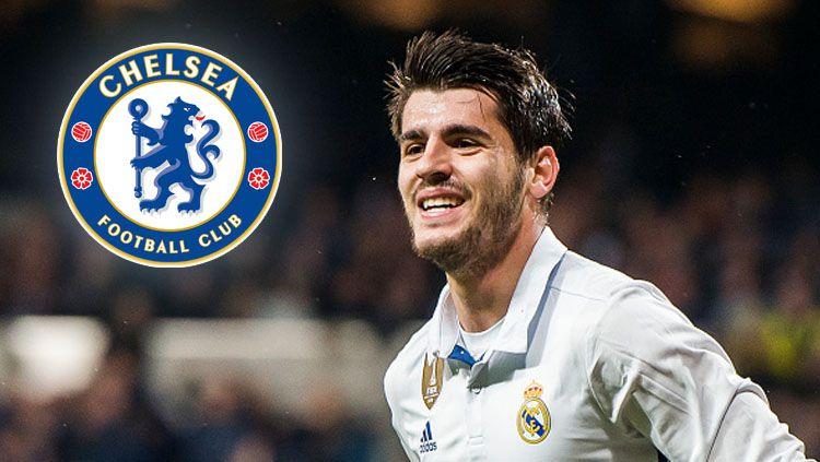 Striker Real Madrid, Alvaro Morata berpeluang besar ke Chelsea. Copyright: © PowerSportImages/GettyImages/INDOSPORT