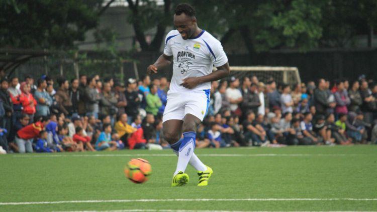 Marquee player Persib Bandung, Michael Essien. Copyright: © Muhammad Ginanjar/INDOSPORT