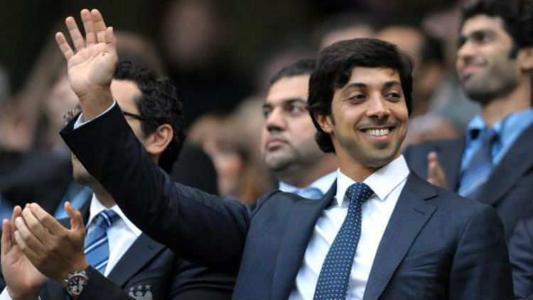 Sheikh Mansour bin Zayed al-Nahyan, pemilik Manchester City asal Abu Dhabi Group. Copyright: © Getty Images