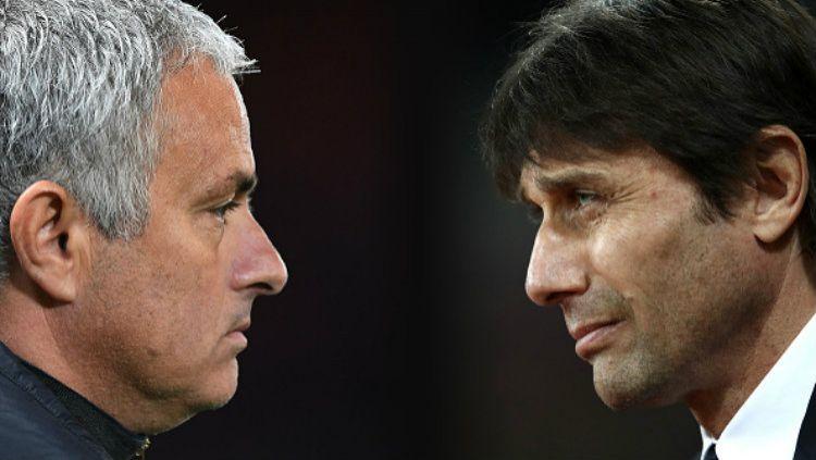 Jose Mourinho dan Antonio Conte. Copyright: © Julian Finney/Getty Images