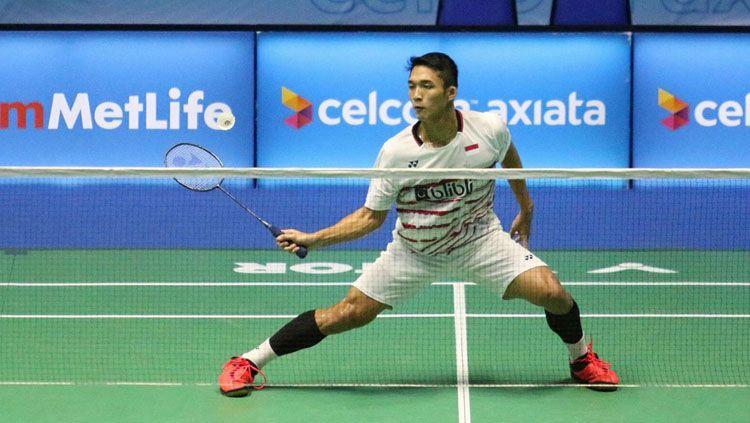 Tunggal putra Indonesia, Jonatan Christie gagal melaju ke semifinal. Copyright: © badmintonindonesia.org
