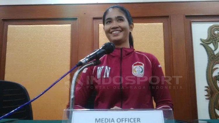 Media Officer PSM Makassar, Andi Widya Syadzwina, menilai perjuangan Kartini jadi inspirasi dirinya. Copyright: © Muhammad Nur Basri/INDOSPORT