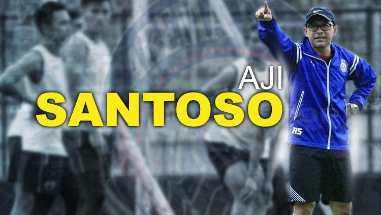 Pelatih Arema FC, Aji Santoso. Copyright: © Grafis: Eli Suhaeli/INDOSPORT/Twitter Aream