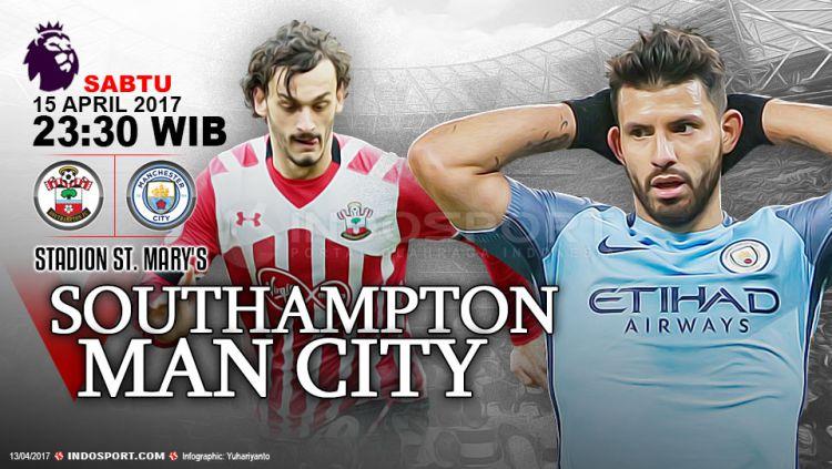 Prediksi Southampton FC vs Manchester City. Copyright: © Grafis:Yanto/Indosport/Getty Images