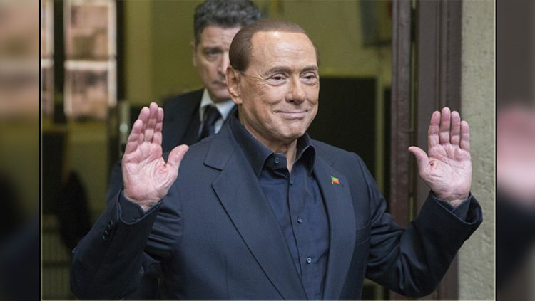 Silvio Berlusconi, mantan presiden AC Milan. Copyright: © Alessia Pierdomenico/Bloomberg/Getty Images