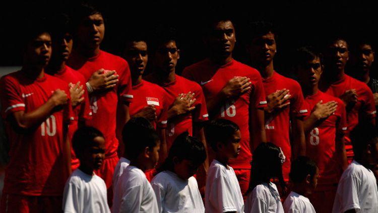 Pelatih Timnas Singapura U-23, Fandi Ahmad. Copyright: © ESPN