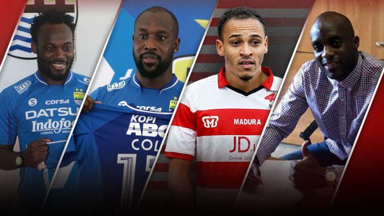 Michael Essien, Carlton Cole, Peter Odemwingie dan Mohamed Sissoko. Copyright: © Grafis:Yanto/Indosport/dari berbagai sumber