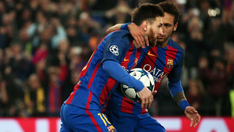 Lionel Messi dan Neymar. Copyright: © Urbanandsport/NurPhoto via Getty Images