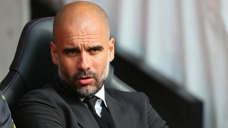 Pelatih Manchester City, Pep Guardiola. Copyright: © Catherine Ivill - AMA/Getty Images