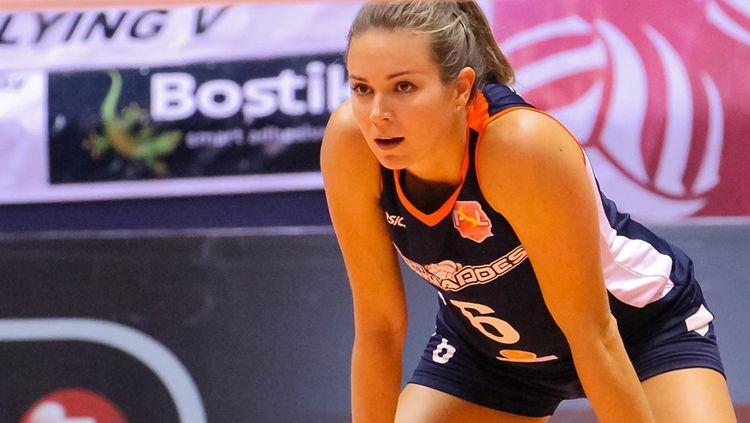 Lindsay Stalzer (Amerika Serikat, Jakarta Elektrik PLN). Copyright: © volleyverse