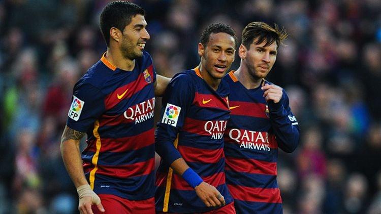 Trio MSN miliki rekor lebih baik ketimbang BBC. Copyright: © David Ramos/Getty Images