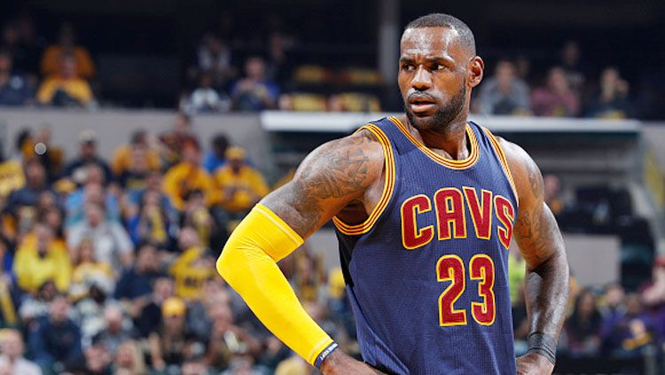 Pebasket Cleveland Cavaliers, LeBron James. Copyright: © Joe Robbins/Getty Images