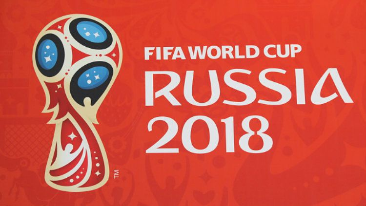 Logo Piala Dunia 2018 Rusia. Copyright: © Mikhail Pochuyev\TASS via Getty Images