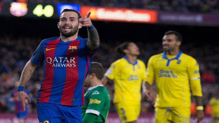 Bek sayap Barcelona, Aleix Vidal. Copyright: © Miquel Llop/NurPhoto via Getty Images