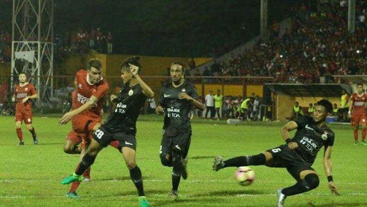 Laga PSM vs Persija Jakarta di pekan ketiga Liga 1. Copyright: © Twitter/@JacatraNet