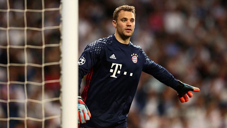 Kiper Bayern Munchen, Manuel Neuer, dikenal sebagai sweeper keeper terbaik. Copyright: © Chris Brunskill Ltd/Getty Images