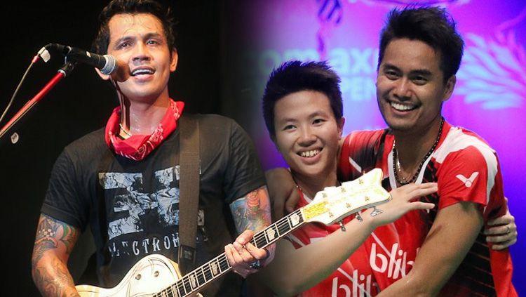 Tontowi Ahmad, Liliyana Natsir dan Bobby Kool. Copyright: © INDOSPORT/Istimewa
