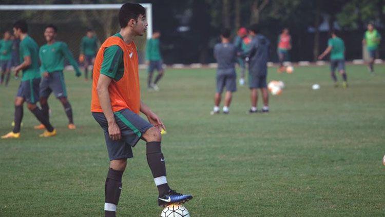 George Brown saat mengikuti seleksi Timnas Indonesia U-19. Copyright: © Twitter/@Brownesia