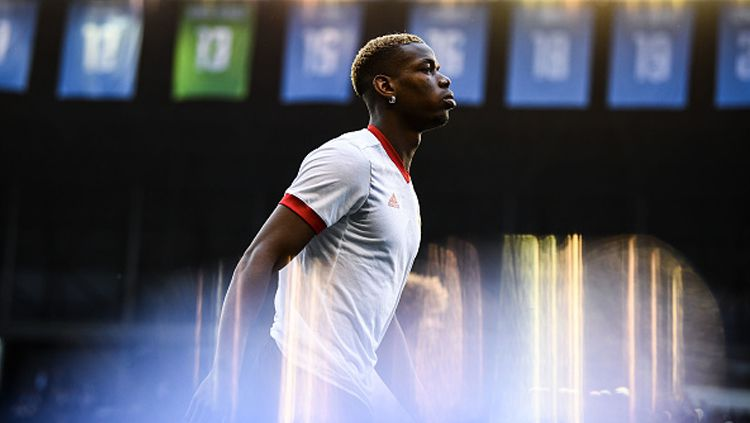 Gelandang Manchester United, Paul Pogba. Copyright: © David Ramos/Getty Images