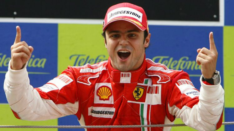 Mantan pembalap F1, Felipe Massa saat menang GP F1 Spanyol 2007. Copyright: © Khelnama