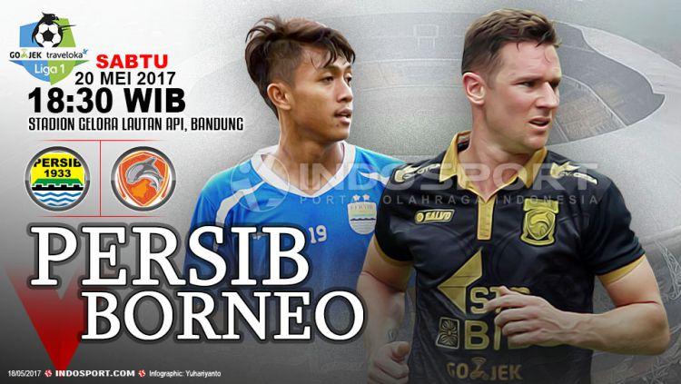 Prediksi Persib Bandung vs Borneo FC. Copyright: Grafis:Yanto/Indosport/Internet