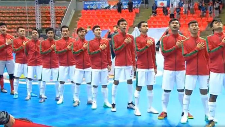 Timnas Futsal U-20 saat menghadapi Jepang di Piala AFC Futsal U-20. Copyright: © istimewa