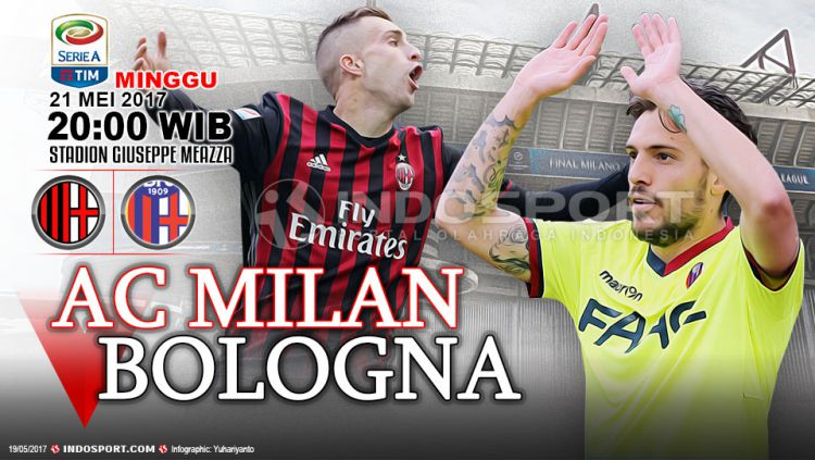 Prediksi AC Milan vs Bologna. Copyright: © Grafis:Yanto/Indosport/Getty Images