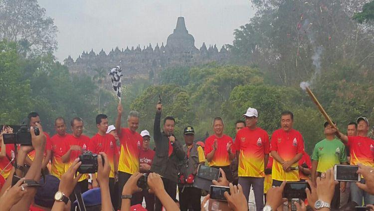 Menpora Imam Nahrawi saat membuka Borobudur Marathon 2016 lalu. Copyright: © Twitter @borobudurmrtn