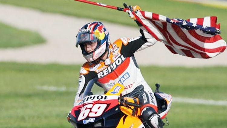 Nomor 69 di MotoGP akan identik dengan Nicky Hayden selamanya. Copyright: © JAVIER SORIANO/AFP/Getty Images
