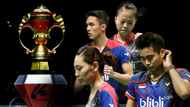 Indonesia harus tersingkir di fase penyisihan grup Piala Sudirman 2017. Copyright: © Grafis: Eli Suhaeli/INDOSPORT/djarumbadminton
