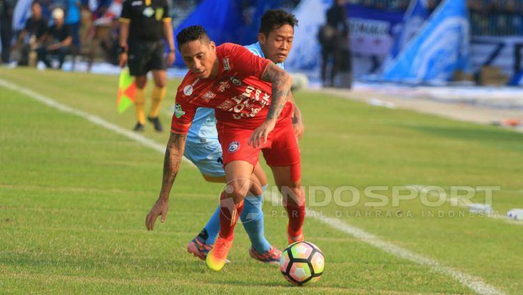Juan Pablo Pino eks Arema FC yang saat ini karirnya hancur karena alkohol. Copyright: © Ian Setiawan/Indosport