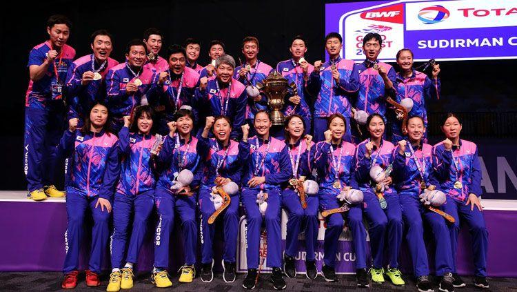 Kontingen Korea Selatan akhirnya resmi mengumumkan daftar pemain yang berlaga di turnamen Badminton Asia Team Championships  2020 yang akan bergulir di Filipina. Copyright: © HUMAS PBSI