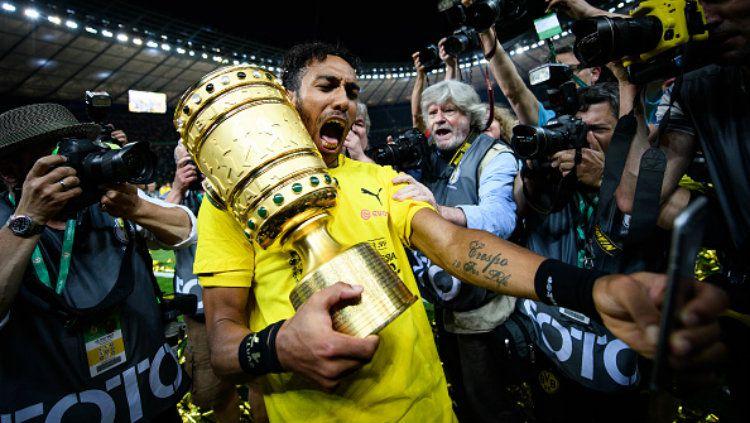 Bintang Borussia Dortmund, Pierre-Emerick Aubameyang. Copyright: © Matthias Hangst/Bongarts/Getty Images