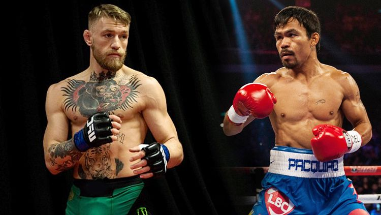 Manny Pacquiao dan Conor McGregor. Copyright: © Daily Mail