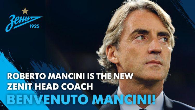 Roberto Mancini. Copyright: © Twitter/@fczenit_en