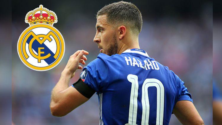 Pemain megabintang Chelsea, Eden Hazard ingin dijadikan pemain termahal di dunia oleh Real Madrid. Copyright: © Catherine Ivill/GettyImages