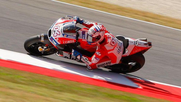 Pembalap Ducati, Andrea Dovizioso. Copyright: © Twitter/Ducati