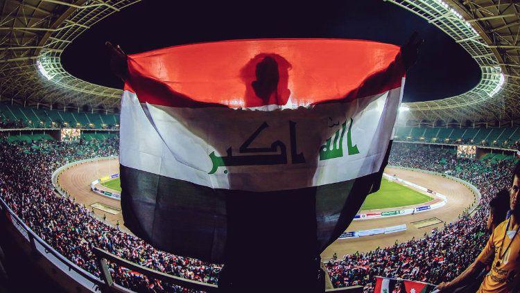 Timnas Irak bisa bermain di kandang, Basra Stadium untuk pertama kalinya setelah 4 tahun. Copyright: © Twitter/@Mohanad_R8