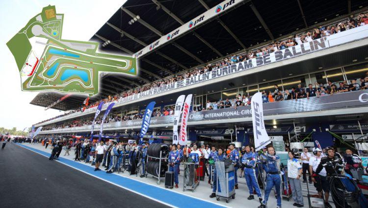 Sirkuit Chang di Buriram, Thailand. MotoGP Thailand kembali mencatatkan rekor sukses menjadi seri balapan dengan jumlah penonton terbanyak pada balapan musim 2019. Copyright: © crash.net/f1